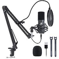 Kit de Micrófono USB 192KHZ / 24BIT MAONO AU-A04 Micrófono Condensador Plug & Play para PC MAC PS4, Microfono de Estudio…