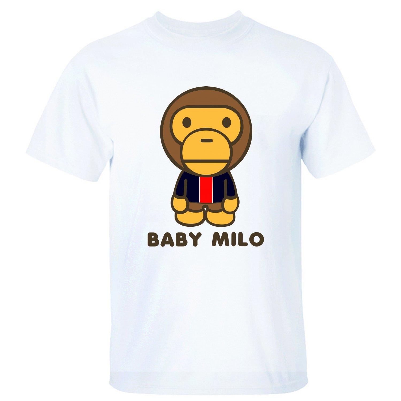 Xshou Men Baby Milo Short Sleeve Shirt White