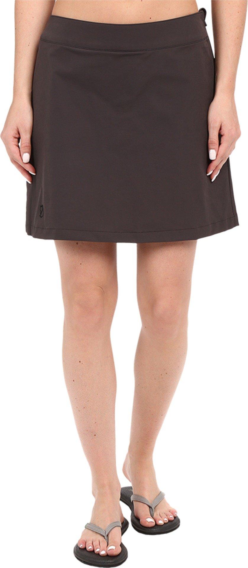 Fjallraven Women's Abisko Trekking Skort Dark Grey Skirt XS X 11.5