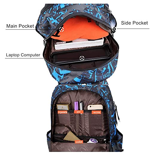 Amazon.com: Fashion Student College Boys Girl Casual Waterproof Mens Travel School Nylon Backpack Laptop Bag: Clothing