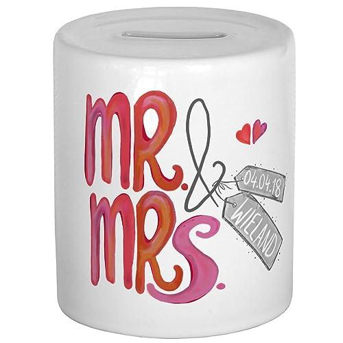 My Sweetheart Hochzeitsgeschenk Personalisiert Stilvolle Spardose