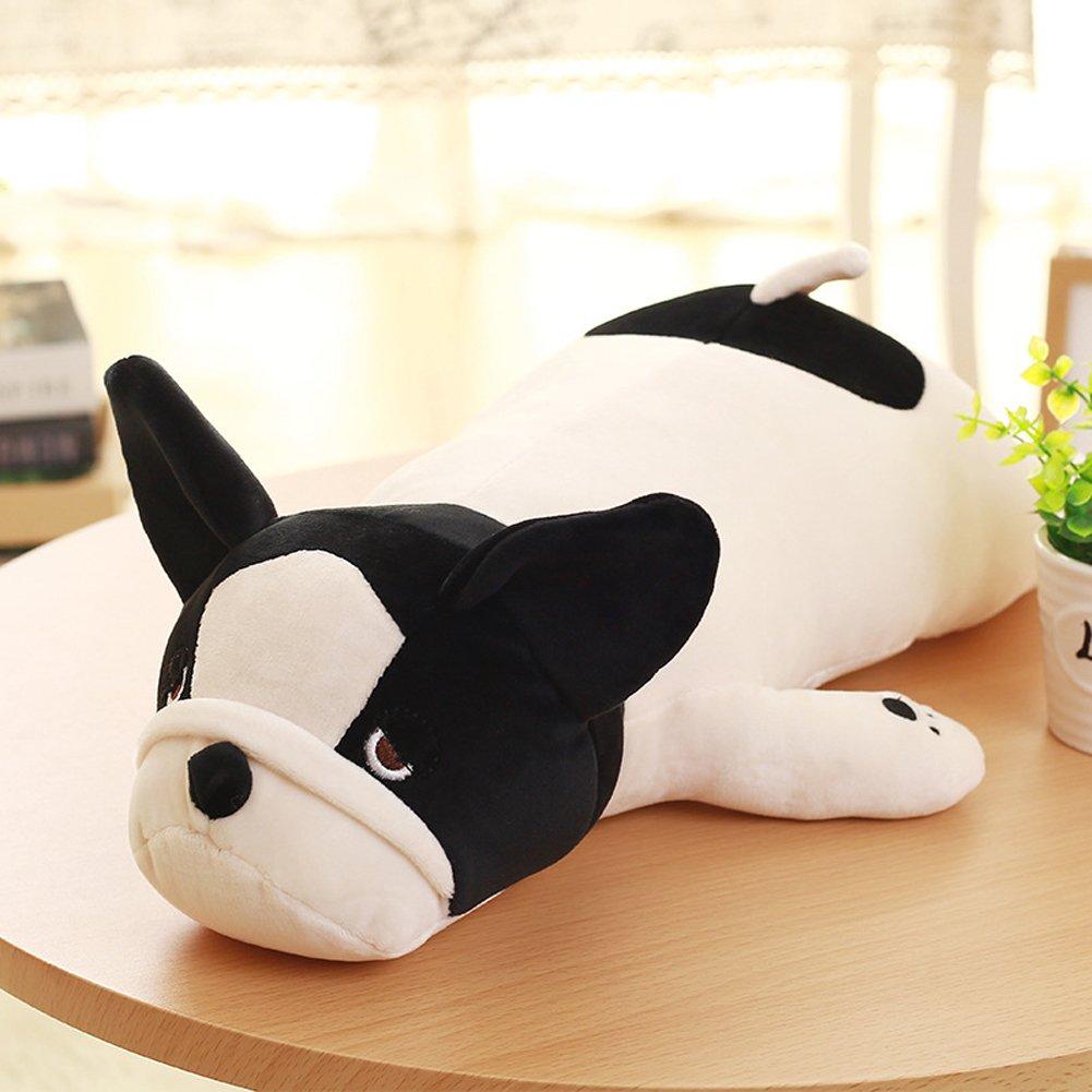YINUOWEI Cute Plush Stuffed Animal Pillow Soft Huggable Bulldog Doll Cushion Toys Gift for Baby Toddler, 50CM/19.5''