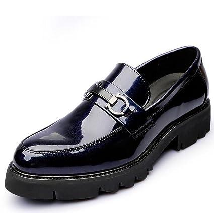Beauqueen Zapatos de Vestir Casuales de Hombre Mocasines y Tacones de tacón Plano Zapatos de Boda