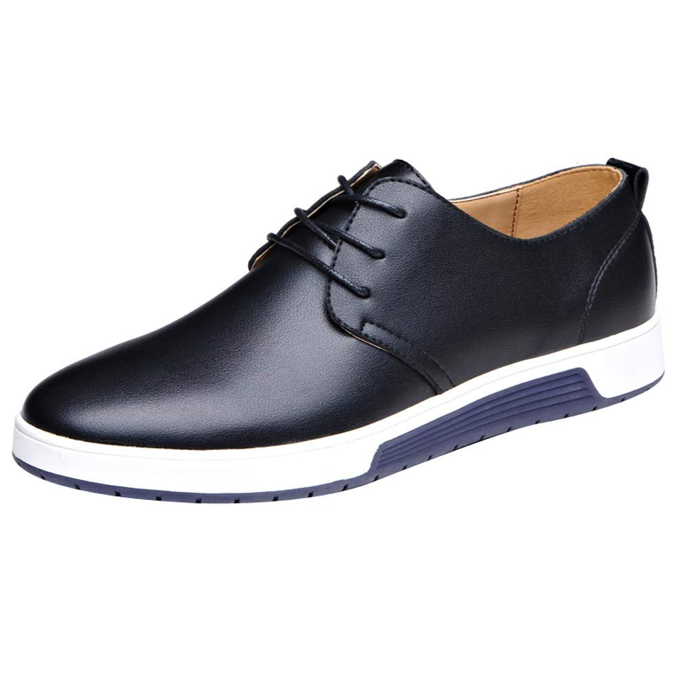 Lurryly Fashion Men Casual Leather Flat Shoes Shoes Business Shoes Wedding Shoes 2019Clearance