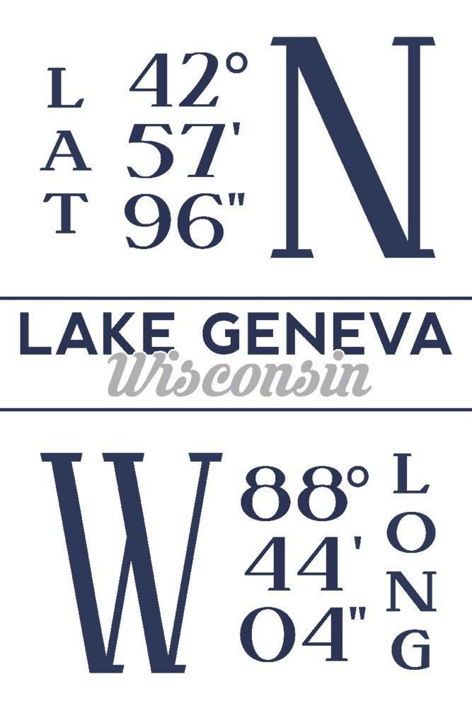 贅沢 ウィスコンシン湖 - Latitude 24 and Longitude x Canvas Canvas Tote Bag LANT-85549-TT B07HJXZBD4 16 x 24 Giclee Print 16 x 24 Giclee Print, ビューティーオンラインショップ:ec4f4076 --- arianechie.dominiotemporario.com