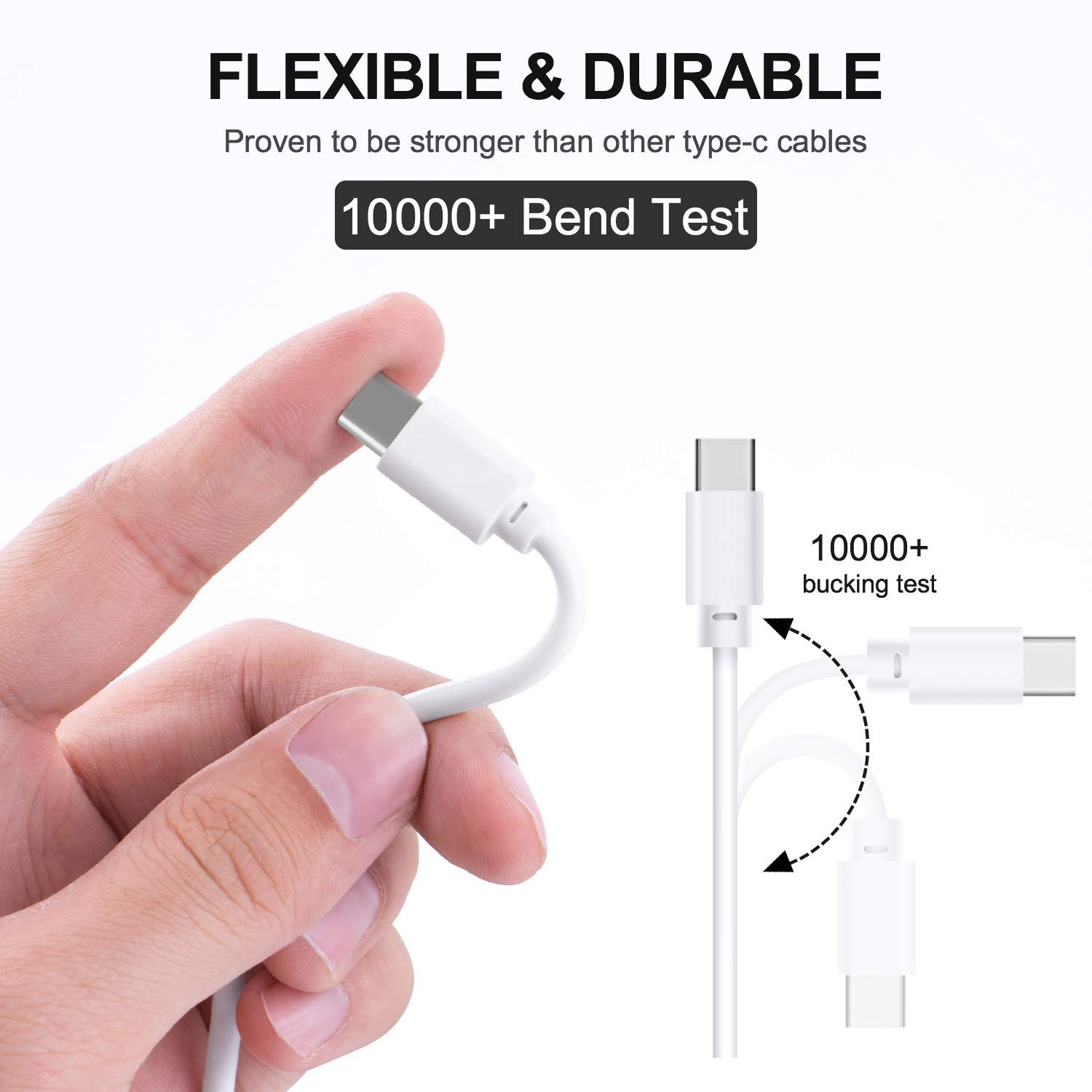 USB Type C Cable, USB-C to USB-A, Fast Charging Cable by HENIST (Image #3)