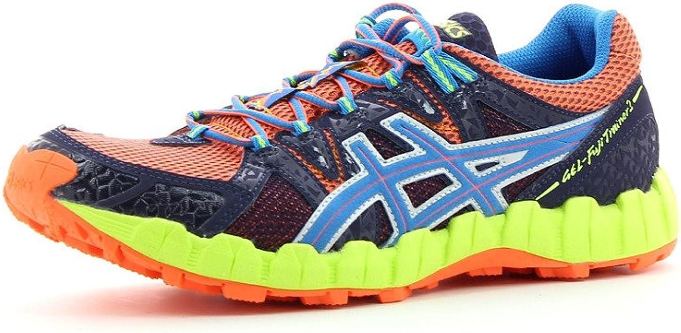 ASICS Gel-Fuji Trainer 2 Zapatilla de Trail Running Caballero, Naranja/Azul Marino, 40: Amazon.es: Zapatos y complementos