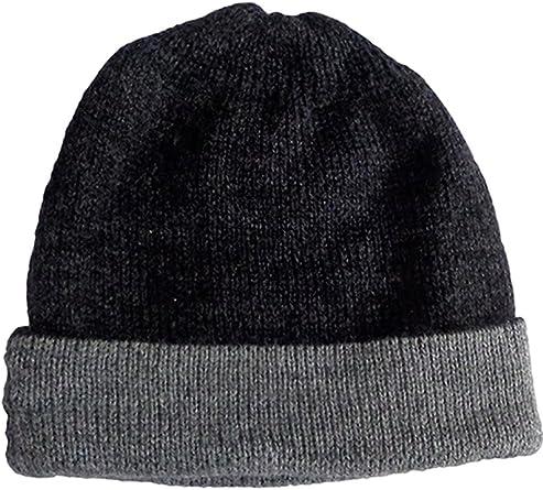Alpaca Grey Slouchy Beanie Free Style Knit Fall Warm Hat Men/'s Cap Boys for Men Boy Chunky Wool Black Hat Mens Winter Beanie Teen Boy Nice