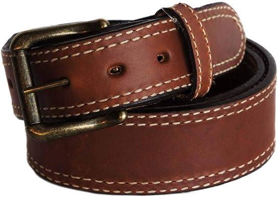 Kids Faux Leather Double Stitched 1 Single Prong Basic Belt 93