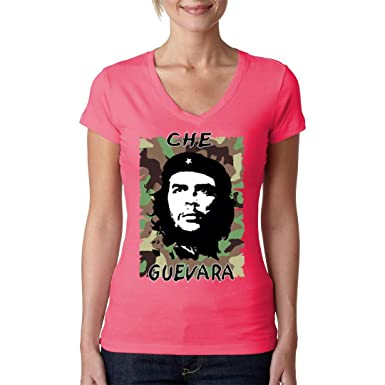 Army Military Girlie V-Neck Shirt - Che Guevara Camouflage by Im-Shirt -