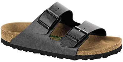 ad3ddd5fdff6 Birkenstock Women s Arizona Vegan Pull Up Narrow Fit Sandal  Anthracite-Anthracite-7.5