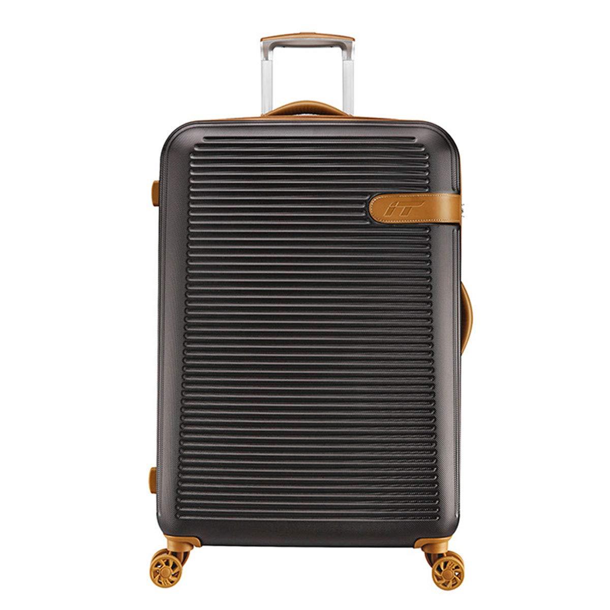 シンプルなファッショントロリースーツケース、拡張可能なハードサイドトラベルバッグW/スピナーホイール軽量の耐久性のある旅行用旅行大学ビジネス,coffee,25inch B07S2MG9B2 coffee 25inch