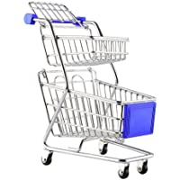 Epique 2 Layer Mini Shopping Trolley Toy with Moving Wheels