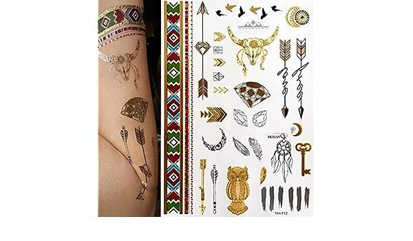 7pcs etiqueta barata del tatuaje del tatuaje del tatuaje: Amazon ...