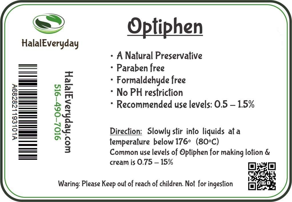 Water Soluble Natural Preservative (Optiphen) - 4 Oz - Broad Spectrum- Paraben-Free - Formaldehyde Free - Great for Making soap, Lotion, Cream, Lip Balm etc.: Arts, Crafts & Sewing