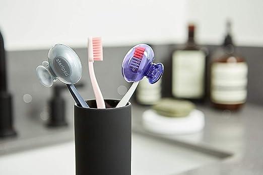 Steripod - Juego de 2 protectores de cepillo de dientes con clip, color azul y verde: Amazon.es: Industria, empresas y ciencia