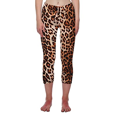 ff09c255f94c8 Buy Segolike New Fashion Women Capri Leggings High Waist Printed Cropped Yoga  Pants Fitness Workout Casual Trousers Online at Low Prices in India |  Amazon ...