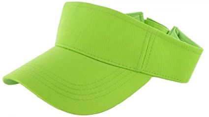 c7749a32d427b Image Unavailable. Image not available for. Color  Easy-W Neon Green Plain Visor  Sun Cap Hat Men Women Sports Golf Tennis Beach New