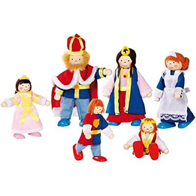 Goki Flexible Puppets Royal Family Doll: Toys & Games