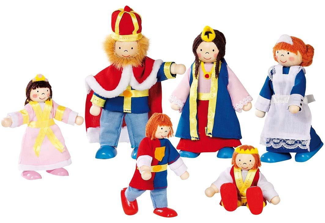 Goki Puppenschloss - goki Biegepuppen Königsfamilie