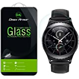 Samsung Gear S2 Classic Glass Screen Protector, [Updated Version Cover The Full Screen] Dmax Armor- Ballistics [Tempered Glass] Anti-Scratch, Anti-Fingerprint, Round Edge [0.3mm]- Retail Packaging