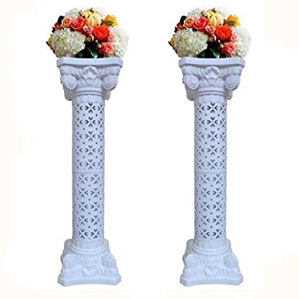 Amazon 2Pcs Elegant Wedding Roman Column Set Pillars Decoration