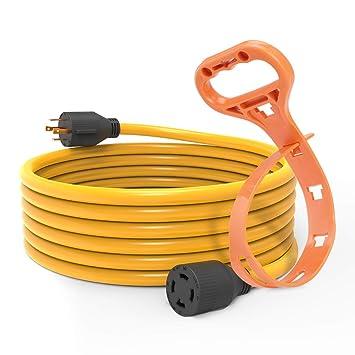 bougerv 20 feet nema l14-30 generator power cord heavy duty electric  extension wire 4