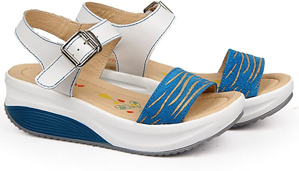 Duberess Womens Casual Comfortable Open Toe Wedged Sandals Ladies Summer Shoes