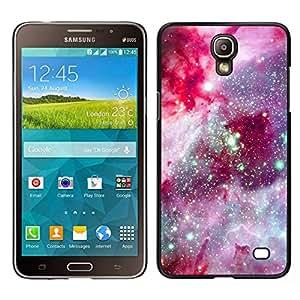 Caucho caso de Shell duro de la cubierta de accesorios de protección BY RAYDREAMMM - Samsung Galaxy Mega 2 - universo espacio rosa cosmos púrpura estrellas