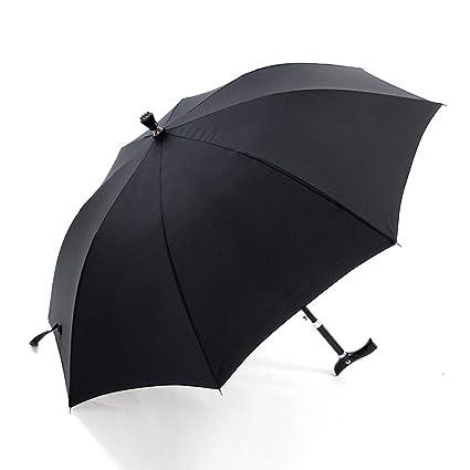 Paraguas Bastón Sombrilla de golf multifunción negra Hombre viejo Sombrillas de mango largo Azul Antideslizante Escalada