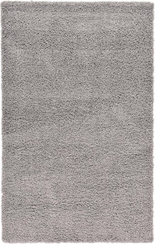 Affinity Home Collection PYL5X8SHAG-SVL Soft Luxurious Plush Shag Rug, 5' x 8', Silver