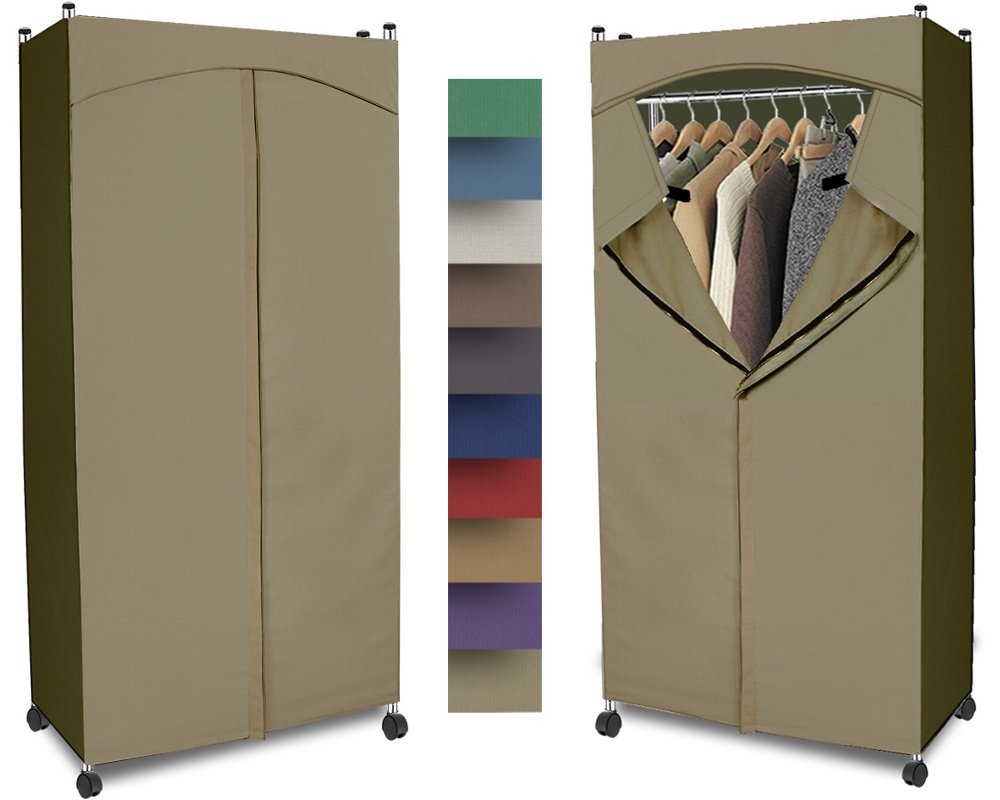 Beau Amazon.com: Portable Wardrobe Closet W/ Premium Cotton Canvas/Duck Cover  (72 75Hx36Wx18D) Khaki: Home U0026 Kitchen
