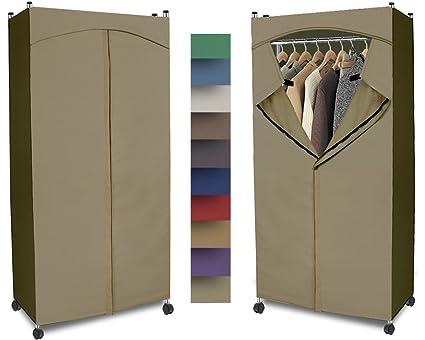 Bon Portable Wardrobe Closet W/ Premium Cotton Canvas/Duck Cover  (72 75Hx36Wx18D)