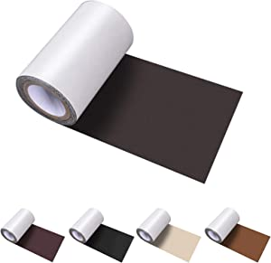 Numola Leather Repair Tape, Self-Adhesive Genuine Leather Patch Set for Sofas, Couches, Furniture, Drivers Seat, Jackets - 4×60inch(Dark Brown)