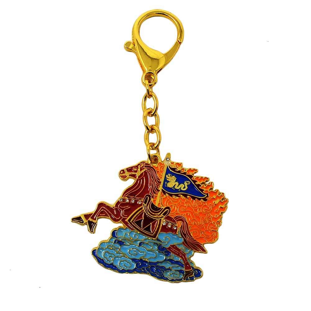 ZAMTAC Feng Shui 2019 Flying Horse Amulet Keychain W3727