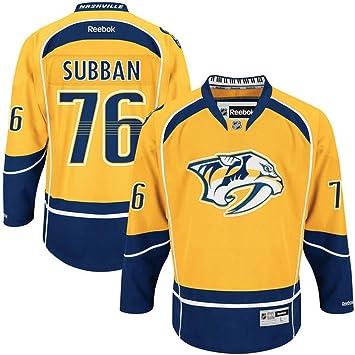 385e4f4542e NHL Nashville Predators 76 PK Subban Men s Premier Jersey Gold color Size  XXXL