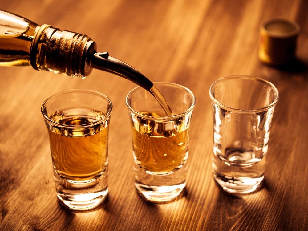 Bar Supplies Set - 3 Tier Glass Rimmer + 6 Alcohol Pour Bottles + 6 Liquor Bottle Pourers W/Tapered Spout by HeroFiber (Image #3)
