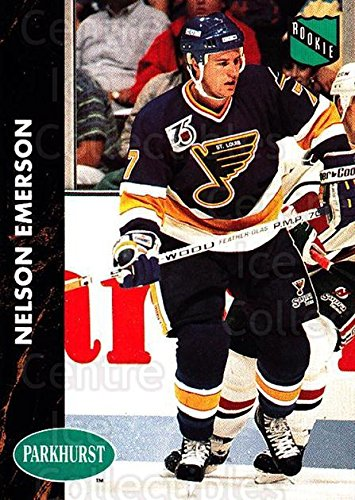 (CI) Nelson Emerson Hockey Card 1991-92 Parkhurst (base) 151 Nelson Emerson (151 Nelson)