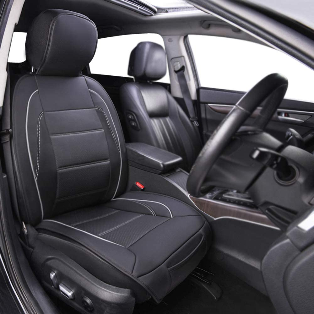 Basics Deluxe Sideless Universal Fit Leatherette Seat Cover Black with Gray Diamond Pattern
