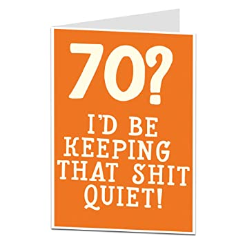 Happy 70th Birthday Card For Men Women Amazoncouk Office Products