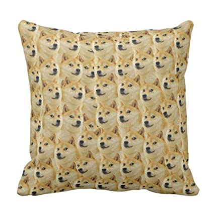 Amazon Com Throw Pillow Cover Cute Dog Shibe Doge Fun And Funny