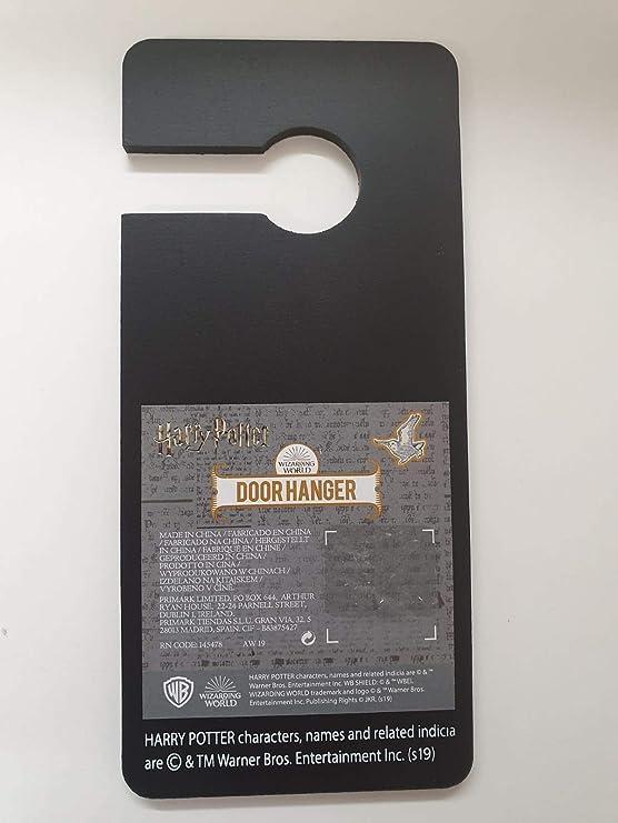 Primark Harry Potter letrero colgador puerta -Esperando mi carta de Hogwarts -, color negro, Hedwig: Amazon.es: Hogar