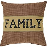 VHC Brands Crimson Red Primitive Classic Country Decor Heritage Farms Family 12x12 Pillow,