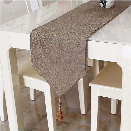 Caminos de mesa Elegante Mesa de Corredor Borla Decoración Color ...