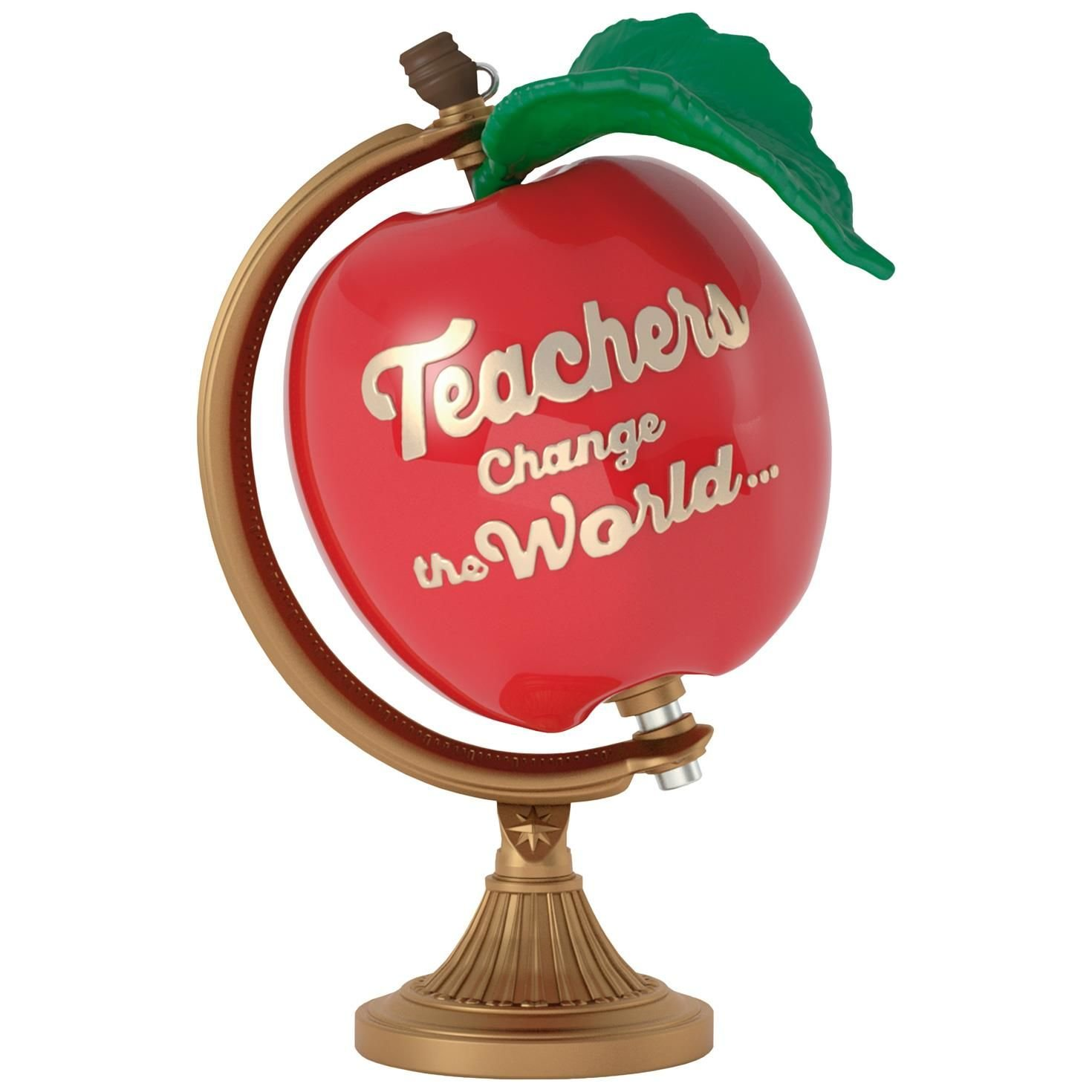 Teachers Change the World Apple Globe Ornament Occupations