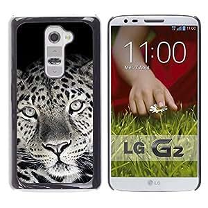 TECHCASE**Cubierta de la caja de protección la piel dura para el ** LG G2 D800 D802 D802TA D803 VS980 LS980 ** Cute Lovely Leopard Fur Pattern Black White
