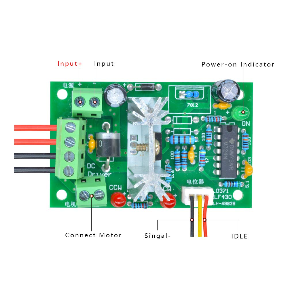 Aideepen 6 30v Pwm Dc Motor Speed Controller Reversible With Forward Scr Circuit Diagram On Brushless Esc Battery Wiring Reverse Switch 6v 12v 24v Variable Regulator Industrial