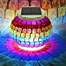 Solar Powered Mosaic Glass Ball Lights - Emoova Color Changing Waterproof Led Outdoor Garden Lawn Jar Lights Indoor Rechargeable Solar Table Night Lamp for Christmas Decorations and Ideal Gifts