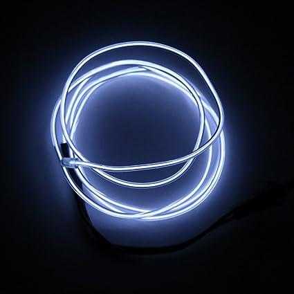 Magideal LED Neon Flexible das Kabel Rohr Seil-Streifen Kette Auto ...