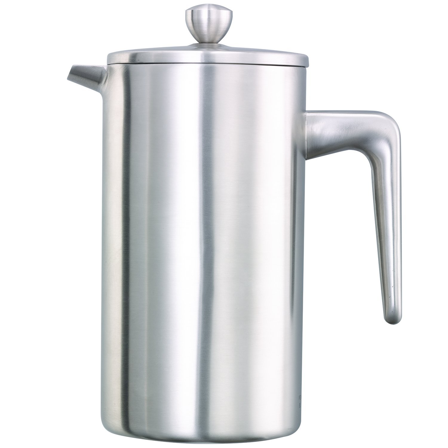 Service Ideas PDWSA800BS Double Wall Coffee Press, Stainless Steel, Brushed, 27 oz.